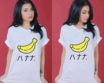 HARAJUKU Japanese Letter Banana White