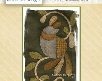 A Partridge in A Pear Tree Wool Applique Pattern Download