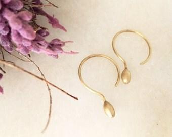 Earrings Golden T E A R S