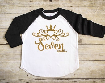 Girls Seventh Birthday Shirt