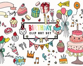 Birthday cake clip art Etsy
