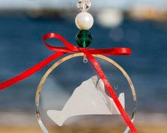Martha's Vineyard -Hand Sandblasted ornaments and suncatchers