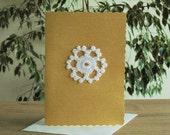 Christmas card, crochet Christmas card, snowflake ornament, christmas snowflake,  handmade card, greeting cards