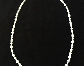 White and Gold Monet Bead Necklace