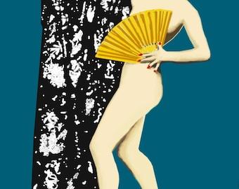 The Silent Screen Star/Giclee Art Print /Louise Brooks 1920 Art Nouveau girl/ Wall Art