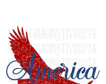 Eagle American Flag Distressed  3 SVG Cut file  Cricut explore file 4th of July t shirt decal