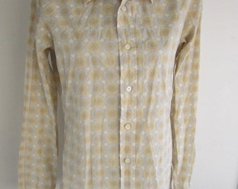90s PRADA Vintage Button Up Shirt size 41/16 Made in Italy