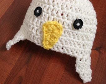Chicken Hat and Diaper Cover, Chicken Costume, Newborn, 0-3 month, costume