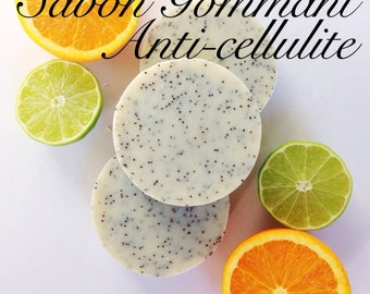 SOAP Exfoliating anti-cellulite / / exfoliating soap / / Handmade soap / / natural / / Organic / / Essentials oils