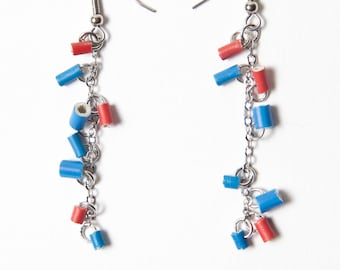 Earrings with electric wire