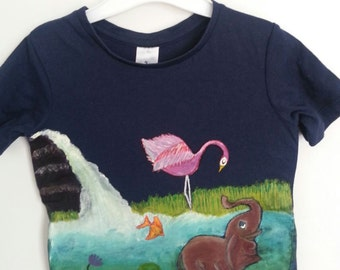 Organic Cotton-Nature's harmony Freestyle hand painted T-shirt
