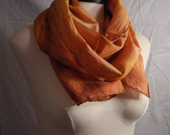 Summer's Sunset : Silk Scarf [hand-dyed]