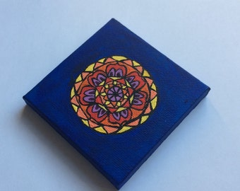Small Mandala Acrylic Painting