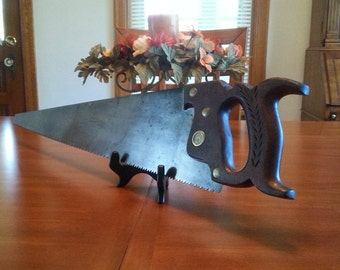 Antique Simonds Handsaw The Simonds Saw No. 371 Rip Saw 6 Point Full Etched Handsaw Patented Dec. 27 1887