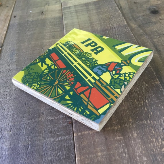 Coaster Made Out Of Upcycled Beer Packaging By