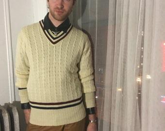 Sak's 5th Ave Wool V Neck Sweater