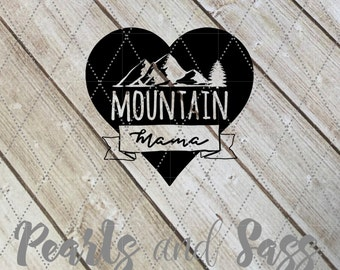 Mountain Mama Decal - Appalachia, Mountains, West Virginia, Mom Decal, Mountain Mom