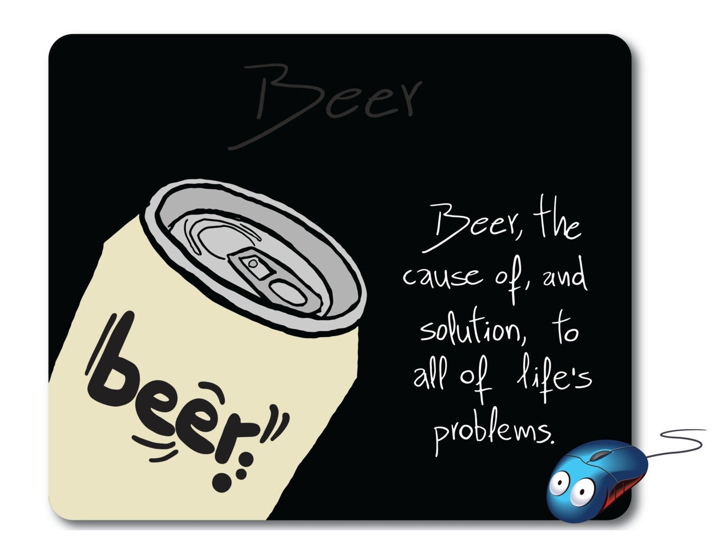 beer art computer mouse pad cool mouse pad best mousepad. Black Bedroom Furniture Sets. Home Design Ideas