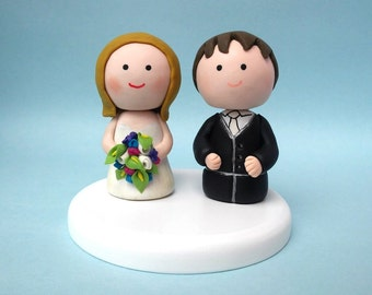 Custom wedding cake topper, handmade wedding cake topper