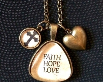 Necklace- Faith, Hope, Love
