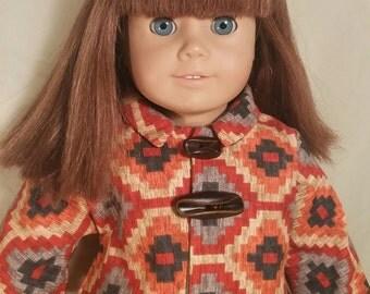 Modern Style Over Coat for American Girl Dolls