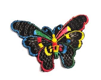 Butterfly applique, 1930s vintage embroidered applique. Vintage patch, sewing supply. Applique, Crazy quilt #5E8G96K5D