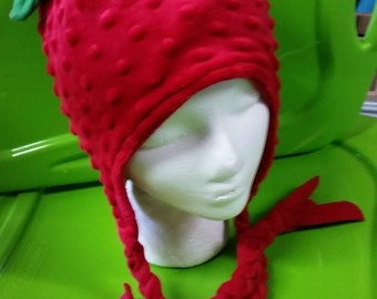 Strawberry fleece children's hat