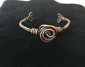 Copper rosette cuff
