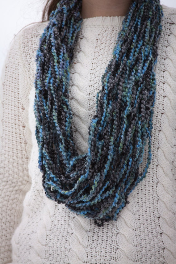 Multi Colored Scarf Knitting Pattern : Multi-Colored Scarf by SummersTime7 on Etsy