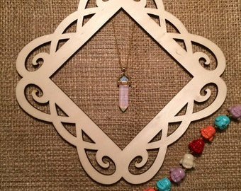 Opal Crystal Necklace - Silver/Gold