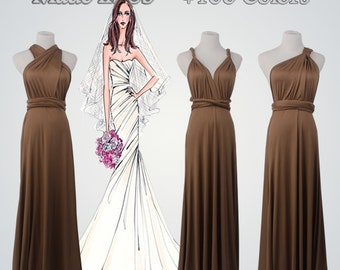 Long Bridesmaid Dresses,Brown Dress,Long Brown Dress,Bridesmaid Dress,Bridesmaid Dress Long,Long Dress,Bridesmaid Gown