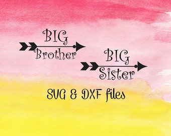 Big Sister SVG cut file, Big Brother SVG, Tribal Arrow svg, Dxf for silhouette, Cricut files, Cuttable Design, Brother bundle, Iron On DXF