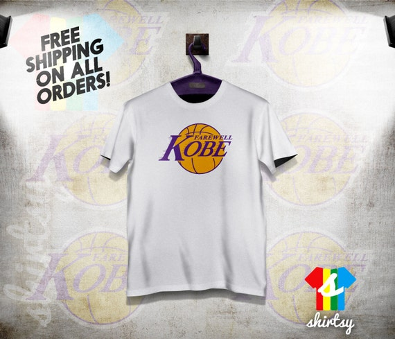 5a077f30665f shirtsy - Farewell Kobe Bryant Retirement T-Shirt LA Los Angeles ...