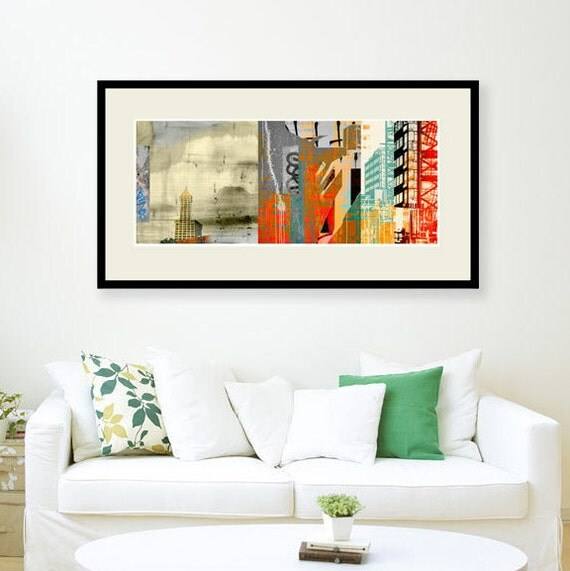View Corridor, urban art, art for lofts, wall decor, urban decay, graffiti art, abstract art, architectural print, limited edition,Seattle