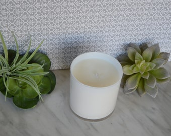 9oz, white tumbler, 100% soy candle---Your choice of fragrance