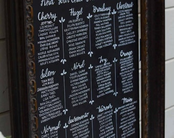 Custom Seating Chart - Chalk Foam Board