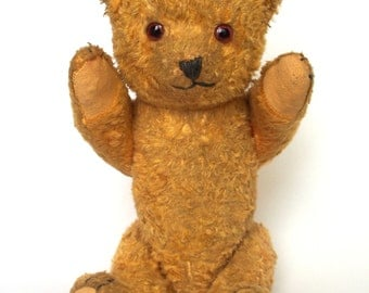 Vintage Teddy Bear, 1950s Polish Teddy Bear, Collectible, European Post War Teddy Bear, Plush Bear