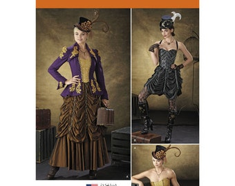 Sewing Pattern for Victorian/ Steampunk Costumes for Misses, Simplicity Pattern 1248, Halloween Costume, Womens Steampunk, Cosplay Costume