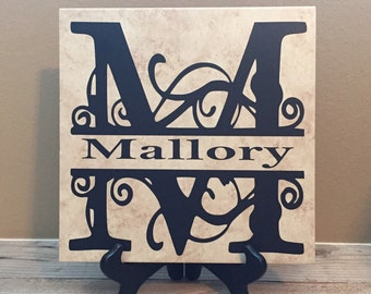 Decorative Tiles, Established Sign, Teacher Gifts, Christmas Gifts, Co-Worker Gift, Name Sign, Last Name Sign, Wedding Gifts, Personalized