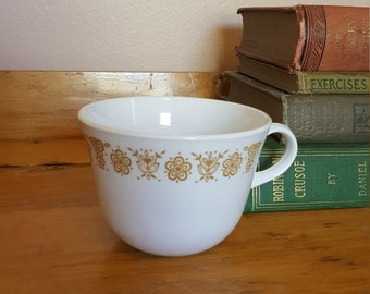 Corelle Corning GOLD BUTTERFLY Livingware Coffee Cup