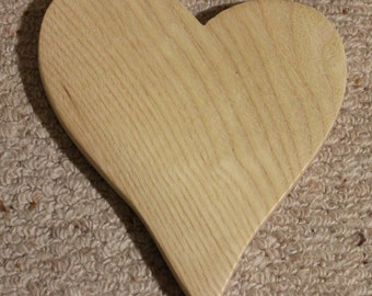 Wooden Light Ash Loveheart Valentine