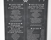 Chalkboard style catering menu, the whole hog!