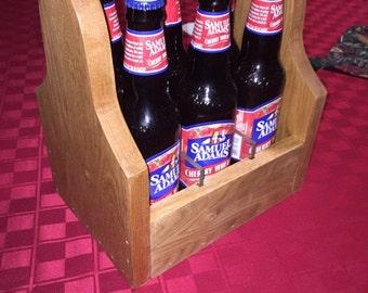 Oak Beer Tote/Carrier/Caddy