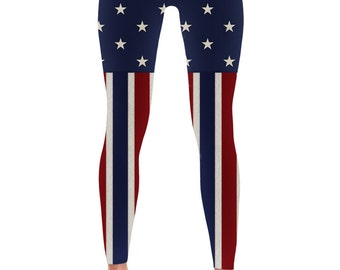 American flag Leggings - 4th of July Leggings- Fourth of July Leggings - Patriotic Leggings - Print Leggings - Womens Leggings