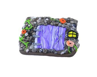Magical Fairy Door - Polymer Clay Fairy Door - Fae Door - Small Gnome Door - Fairy Decorations - Garden Fairy Door - Pixie Door - Elf Door