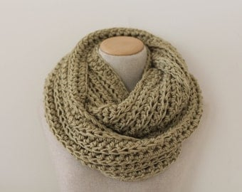 Knit infinity scarf, oversized infinity scarf, vegan clothing, circle scarf, blanket scarf, green infinity scarf, chartreuse infinity scarf