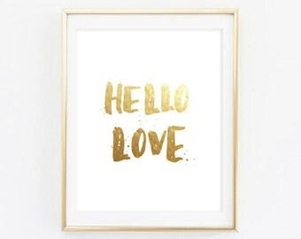 Printable - Hello love Wall Art Decor