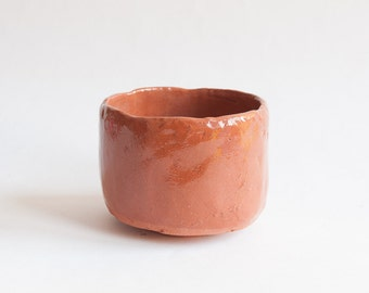 ceramic bowl in japanese style red clay white cup with unusual ceramic cup without handle minimalistic cup chawan matcha bowl wabi sabi 27