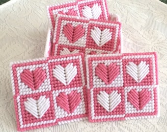 Heart Coasters with Holder