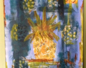 Joy Pineapple - Original Painting
